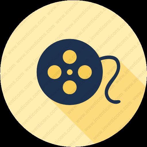 Download Reel,movie,cinema,theater,film Icon Inventicons