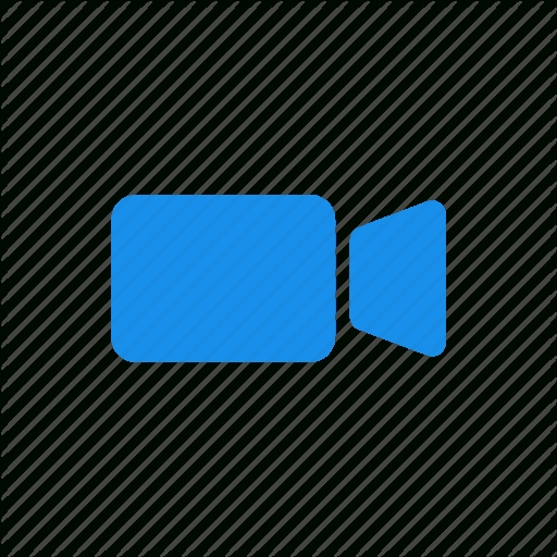 Blue, Movie, Video, Video Camera Icon In Blue Video Icon Png