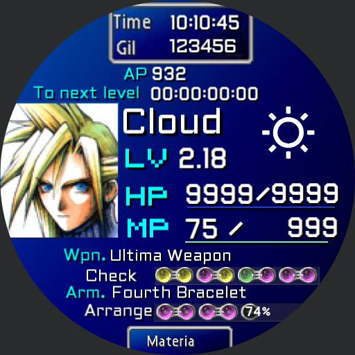 Final Fantasy Cloud Copy For Huawei Watch