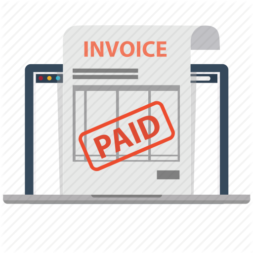 Document Electronic Invoice Invoice Invoices Laptop Paid Paids