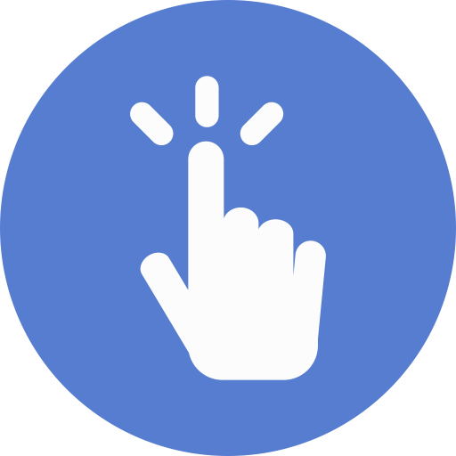 Election Polling Finger Icon Circle Blue Election Iconset Icon