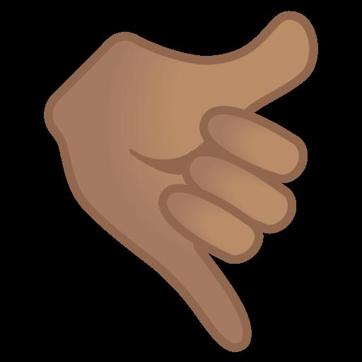 Call Me Hand Medium Skin Tone Icon Noto Emoji People Bodyparts