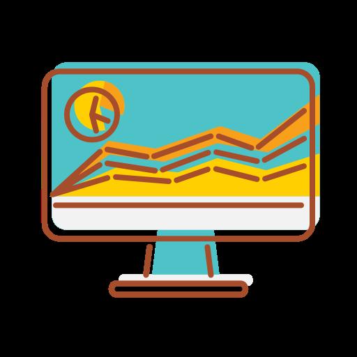 Bank, Technology, Financial, Internet, Data, Visualization Icon