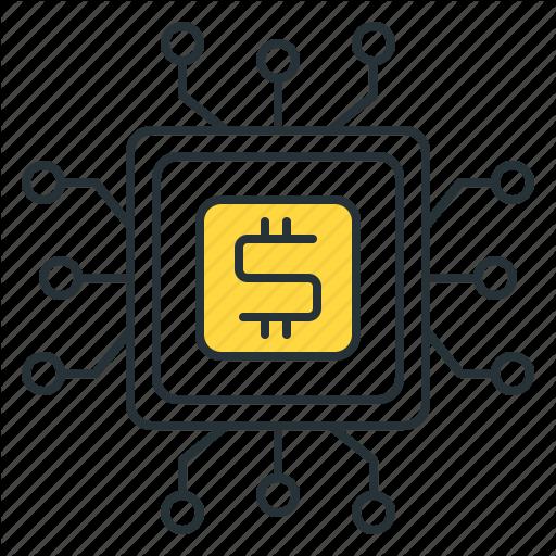 Finance Technology, Fintech Icon