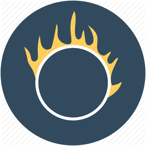 Circus, Circus Show, Circus Trick, Fire Hoop, Fire Ring Icon