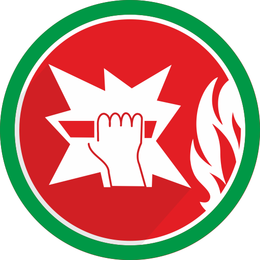 Fire, Break, Glass, Danger Icon
