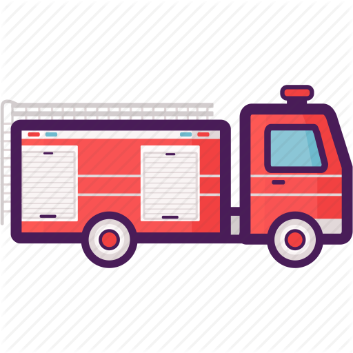 Fire Engine, Fire Truck, Firefighter Icon