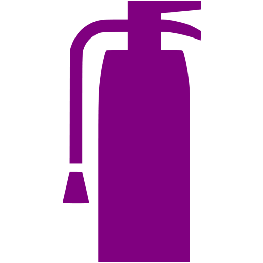 Purple Fire Extinguisher Icon