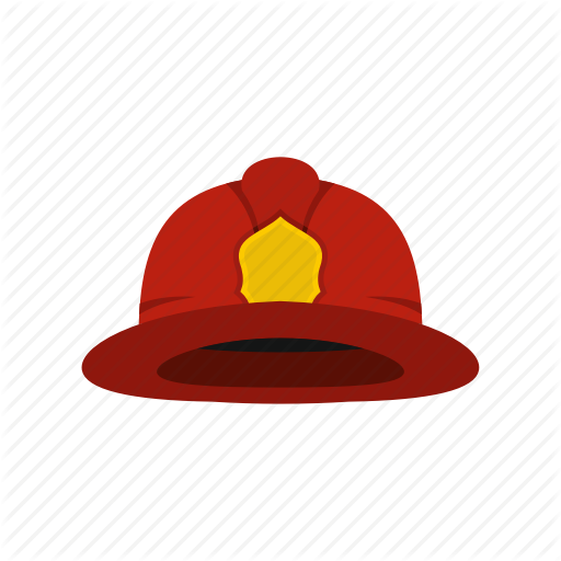 Fire, Firefighter, Fireman, Hat, Helmet, Protection, Safety Icon