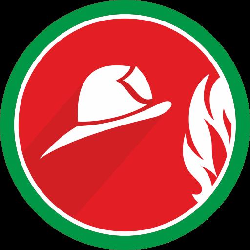 Flame, Burn, Fire, Helmet Icon