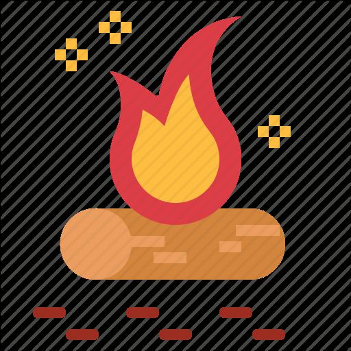 Bonfire, C Camping, Fire Icon