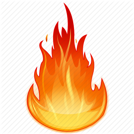 Burn, Burning, Fire, Flame, Heat Icon