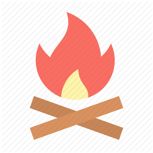 C Camping, Fire Icon