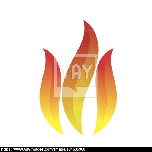 Fire Icon Isolated Vector