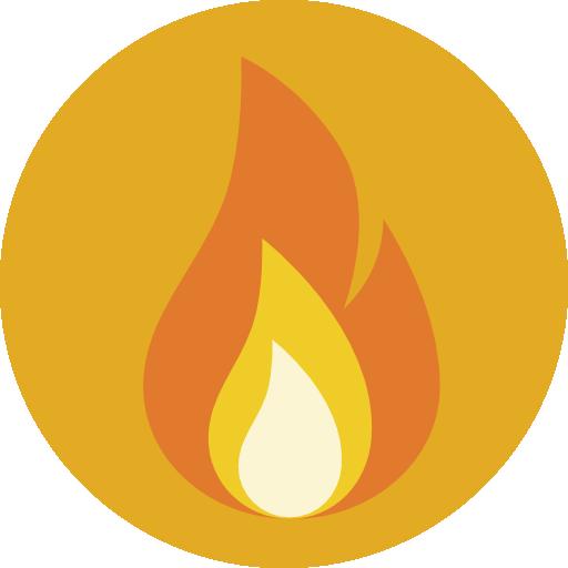 Element, Square, Fire Icon