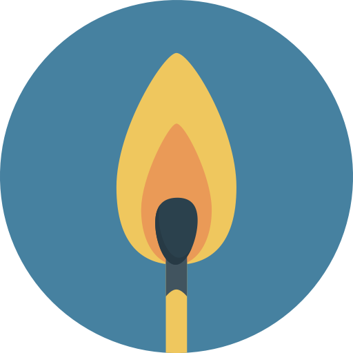 Fire, Flame, Match Icon