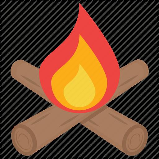 Bonfire, Campfire, Fire, Fire Pit, Flames Icon