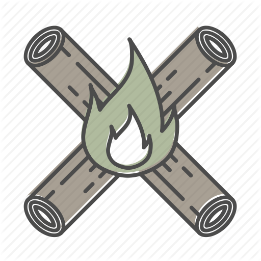 Campfire, Camping, Firepit, Hiking, Nature, Outdoors, Recreation Icon