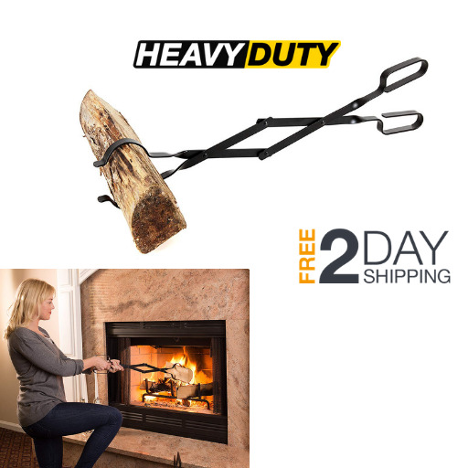 Outdoor Log Grabber Tool Campfire Wood Stove Fireplace Tongs Fire