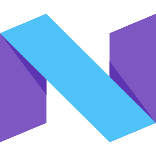 Android, Android N, Google, N, Os, Smartphone Icon