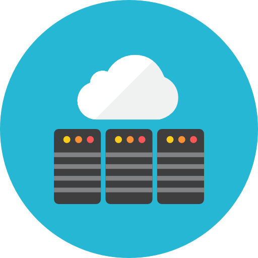 Data Service On Cloud Icon