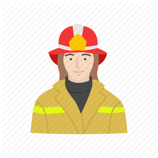 Female Firefighter, Fire, Fire Woman, Firefighter Icon