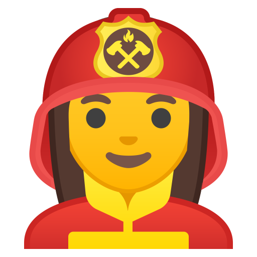 Woman Firefighter Icon Noto Emoji People Profession Iconset Google