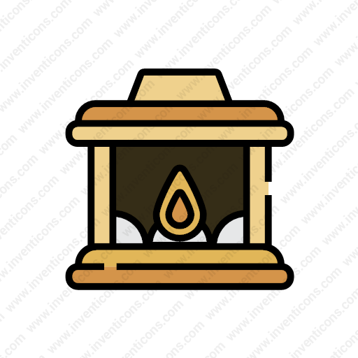 Download Fireplace Icon Inventicons