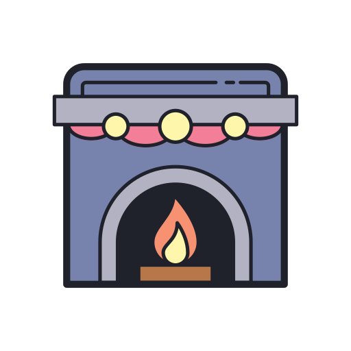 Fireplace Icon Free Of Merry Holidays