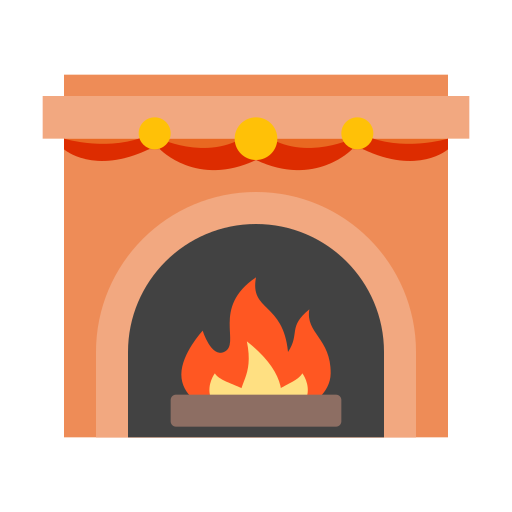 Fireplace Icon Free Of Winter Holiday