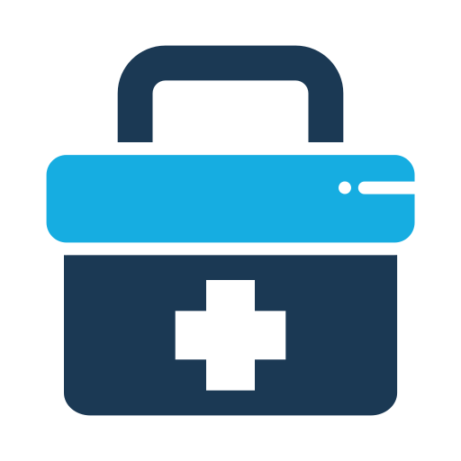 Medical, Briefcase, Bag, First Aid Icon Free Of Medical Flat Color