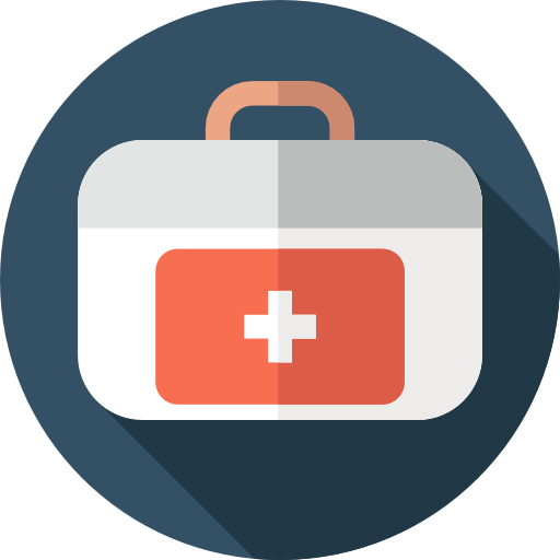 Medical First Aid Kit Flat Darkslategray Icon