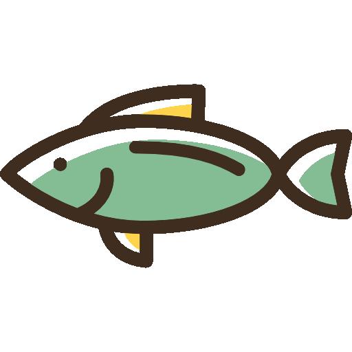 Fish Icon Linear Color Food Set Freepik