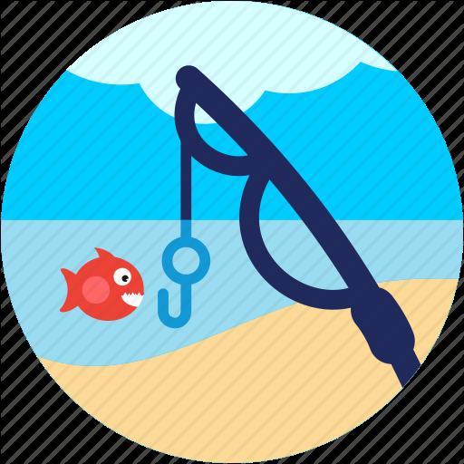 Activities, Cloud, Fish, Fishing, Lake, Pole, Recreational Icon