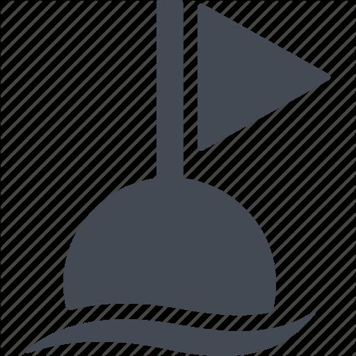 Diving, Fishing Equipment, Flag, Float Icon