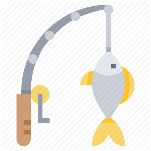 Fish, Fishing, Pole, Rod Icon