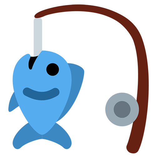 Fishing Pole And Fish Emoji For Facebook, Email Sms Id