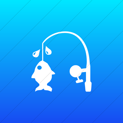 Flat Square White On Ios Blue Gradient Classica Fishing