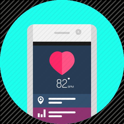 App, Fitness, Health, Mobile, Smart Phone Icon