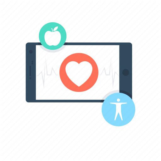 Fitness App, Health App, Heart, Medical App, Mobile Icon