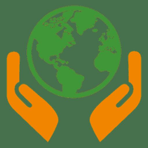 Globe Hands Icon
