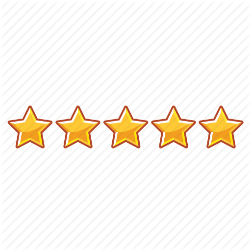 Five, Five Star, Mark, Rank, Stars Icon