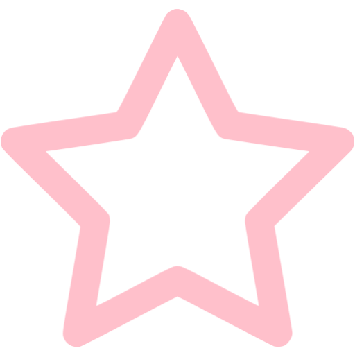 Pink Outline Star Icon