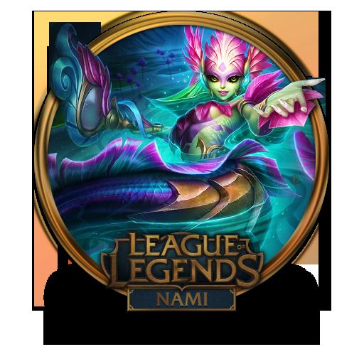 Nami River Spirit Icon League Of Legends Gold Border Iconset