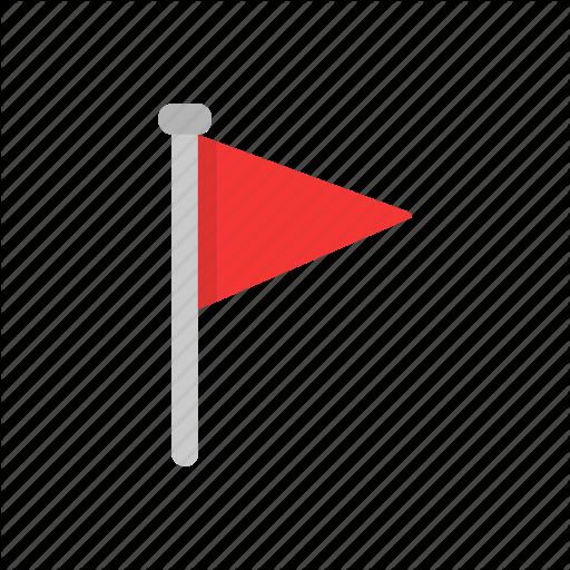 Banner, Flag, Flaglets, Red Flag Icon