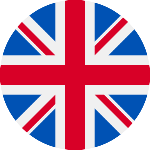 United Kingdom Flag Icon Round