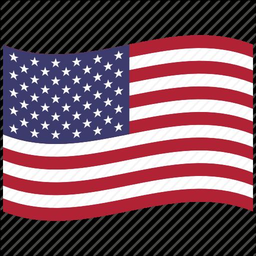 American Flag, North America, United States, Us, Usa, Waving Icon