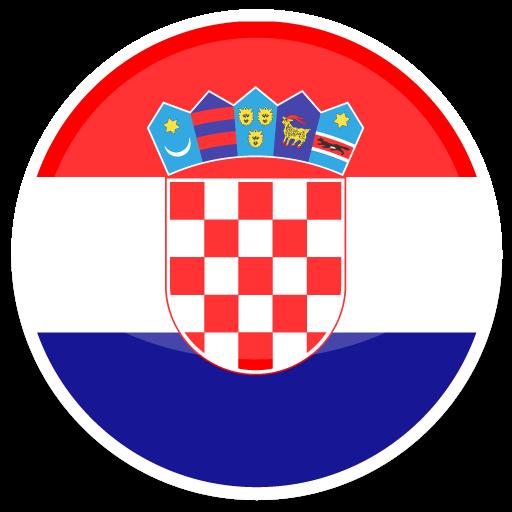 Flat Round World Flag Icon Set Darkblue