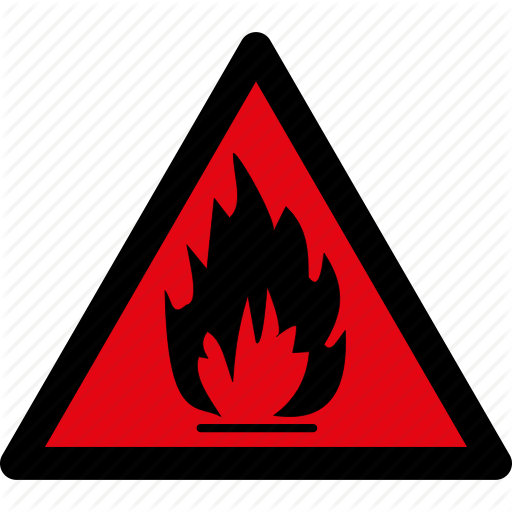 Attention, Caution, Danger, Flammable, Hazard, Materials, Warning Icon