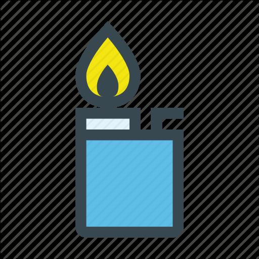 Burn, Fire, Flame, Flammable, Gas, Lighter, Smoke Icon